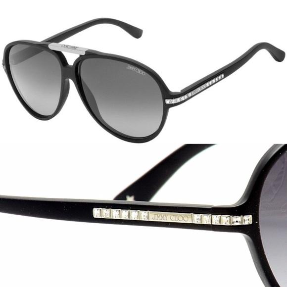 2df2390ec88 Jimmy Choo Swarovski Crystal Aviator Sunglasses